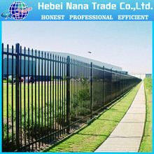 High quanlity powder coated galvanised security short wrought iron fence