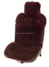 Australia lambskin factory price car seat cover decorated by fox-fur used by home and office