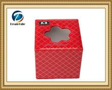 Customized pu leather rectangular handmade tissue box cover