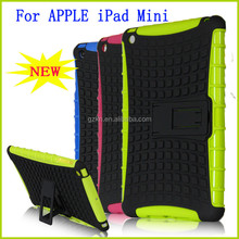 Newest arrival popular hot selling hard plastic and TPU hybrid armor case stylish tough military cover case for iPad mini