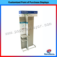 Custom floor trade show display shelving/trade show booth exhibit display