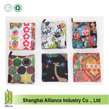 Tote Style Customized Reusable Polyester Foldable Shopping Bag with Logo,Ripstop Mateirals Nylon Folding Shopping Bag