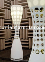 Designed acrylic solid surface made floor lights new design