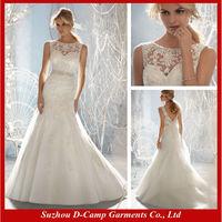 WD-1802 Sleeveless A line latest european fashion wedding dress amanda novias wedding dresses hot sale wedding dress