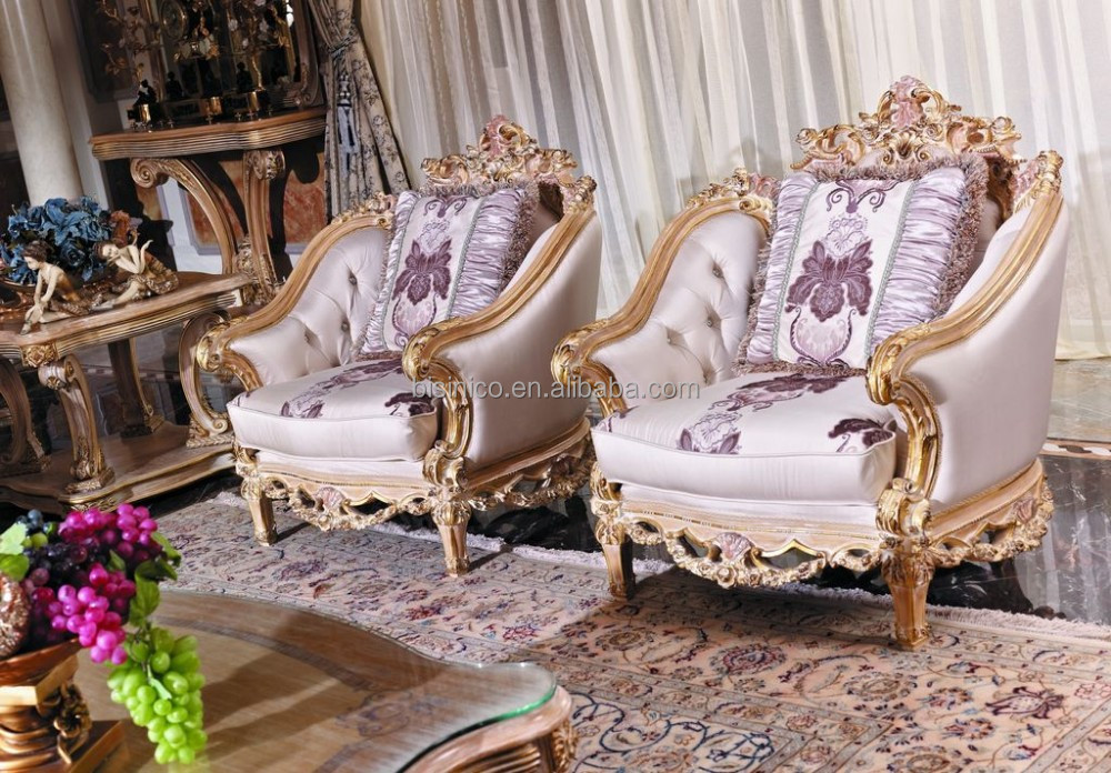 French New Classic Elegant Living Room Furniture Retro