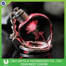 Promotion gifts led crystal keyring