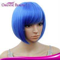 Alibaba express Cheap high temperature fiber Short fashion hair straight ang color synthetic cosplay wigs