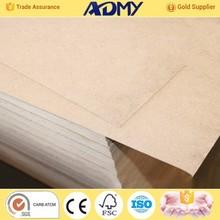 2015 ADMY preço competitivo mdf plain mdf de mdf cru fábrica da china