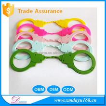 Colorful Silicone rubber handcuff sex toy, Silicone sex toy handcuff