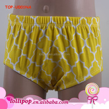 New style plain yellow baby briefs bloomers high quality baby underwear
