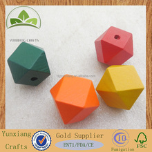 colored Wood faceted Beads DIY dice beads for necklace