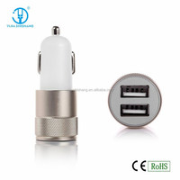 Colorful Bullet dual USB portable Mini Car Charger for for Iphone/for Sumsung/smart phone