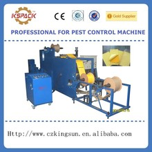 yellow glue paper insect sticky making machine,hot melt fly trap glue paper machine