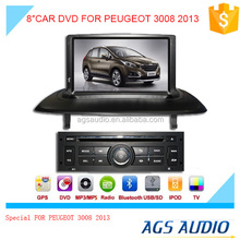 8inch fixed digital panel car DVD player for PEUGEOT 3008 2013 with GPS TV and bluetooth