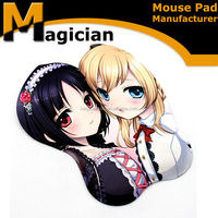 2015 Silicone Breast Gel Rubber Customezed Gift Mouse Pad