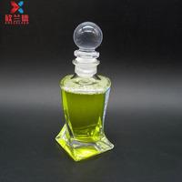 50ml unique square shape glass perfume diffuser bottle with glass stopper wholesale
