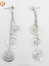 Funky design round pendant eardrop, crystal women's dangler earrings