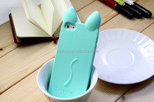 2015 Fashion Cat Ear Silicone Skin Back Case For iPhone 5 5S