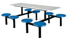 Canteen Furniture 8-Seater Folding Dining Table School with Metal Frame, Wood Long Dining Table