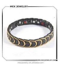 Bio Magnetic Germanium Titanium Sports Energy Bracelet For Men