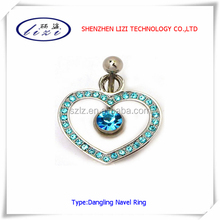 Hot Sales Magnetic Colorful Dangle Navel Belly Button Rings Body Piercing
