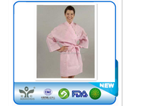 2015 hot!Disposable PP nonwoven sauna cloth/kimono/spa clothes