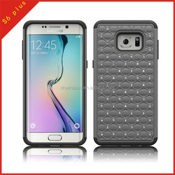 phone pc silicone case for samung galaxy s6 plus,rhinestone cover for samsung S6 plus