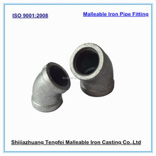 galvanized elbow 45 degree/malleable iron pipe fitting 45 degree