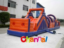 Durable adult inflatable obstacle course,inflatable floating obstacle