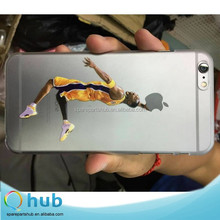 2015 Hot selling Transparent PC case cover with NBA series basketball starts printing for iPhone 5 5s 6 6 plus