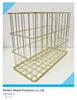 PF-WBT23 Gold color copper magazine rack/wire basket