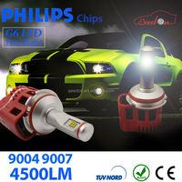 Qeedon plug and play h7 led headlight 4000lm h11 lamp sockets h4 socket