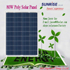 High quality Poly 80W solar panel of factory direct sale made in China