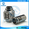 Popular New full mechanical ss hammer mod e-cig from China supplier