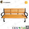 Outdoor Park Garden Wood Bench with Backrest