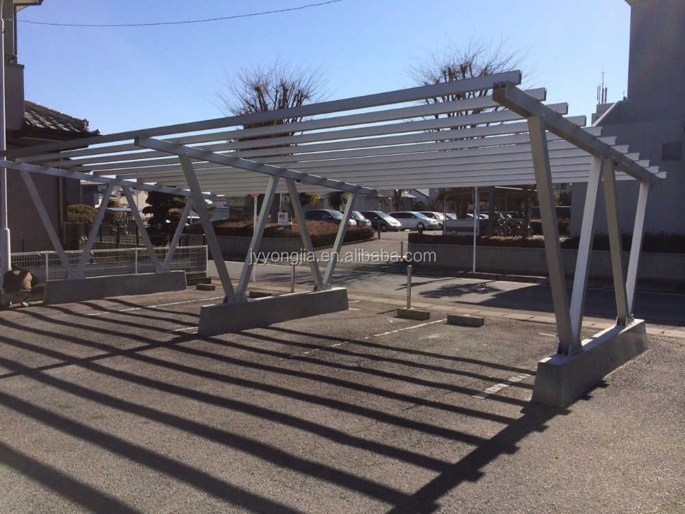 Pv solar carport aluminum frames bracket kilowatts