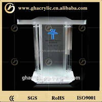 Hot sale acrylic podium church pulpit with customized logo and size