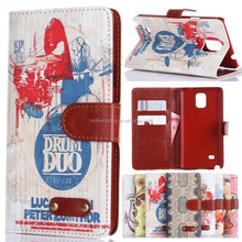 Nice note 4 leather case mobile cover for samsung galaxy note 4