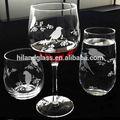 soplado a mano grabado de vidrio para beber