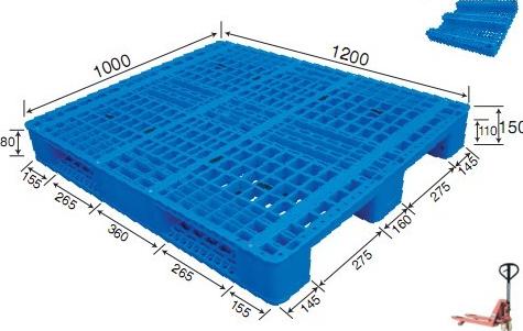 1200x1000 durable euro heavy duty plastic pallet load capacity 1 ton