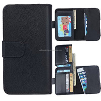 "universal smart phone wallet style leather case PU leather phone case for 4"" mobile phone"