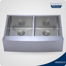 Flush mount extra large designer kitchen sinks
