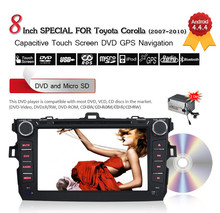 """Pure Android 4.4 HDCapacitive 8"""" Touch Screen Car Audio Radio for Toyota corolla GPS NAVI , WIFI,BLUETOOTH,SWC,MP3,USB,SD,AUX,3G"""