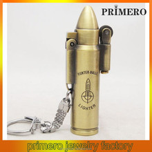 PRIMERO fashion metal alloy key chain Bullets Torch Lighter Creative gift lighter key chains bullet key chain