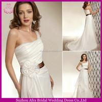 SD1143 organza white cheap wedding dress one shoulder plus size wedding gowns