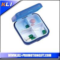 Square 2 day travel pocket pill box promotional pill box