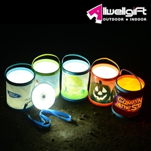 2015 Patent New Solar LED Bucket Camping Light for Outdoor and Indoor