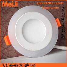 Good selling recessed round and square blue color diffused led light panel