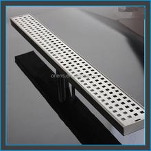 customized long stainless steel floor drain shower drain/shower channel