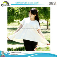 2014 Fashion White Ladies Chinese Trendy Girl Cotton T Shirt